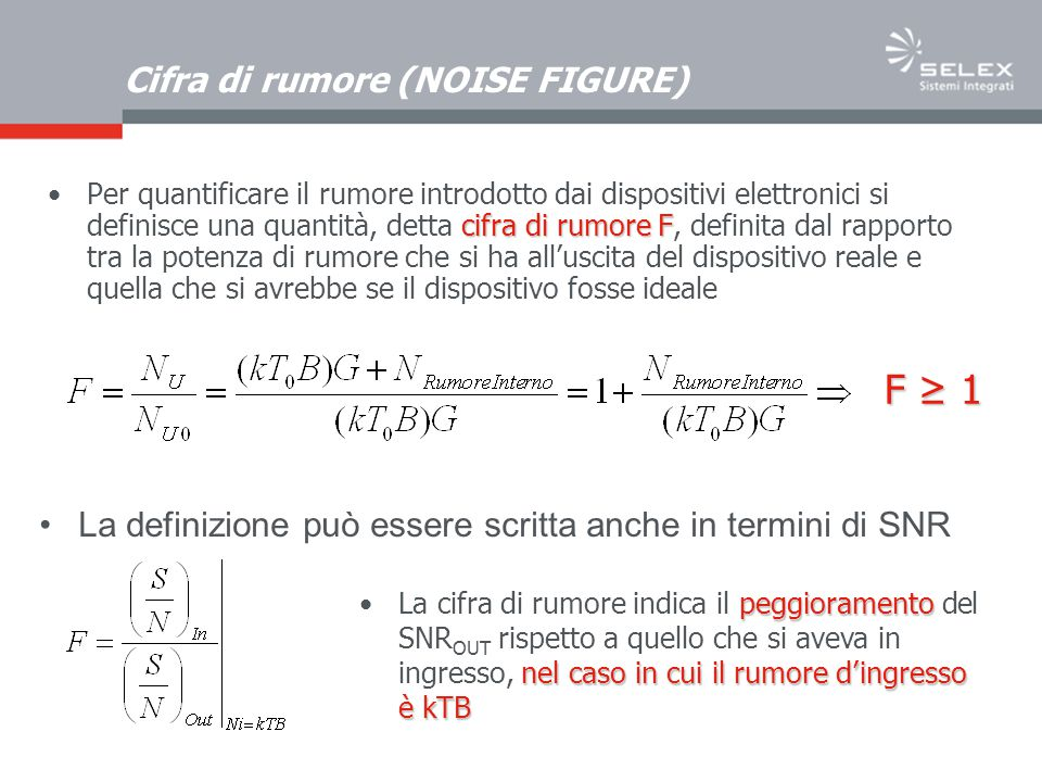 Cifra di rumore (NOISE FIGURE)