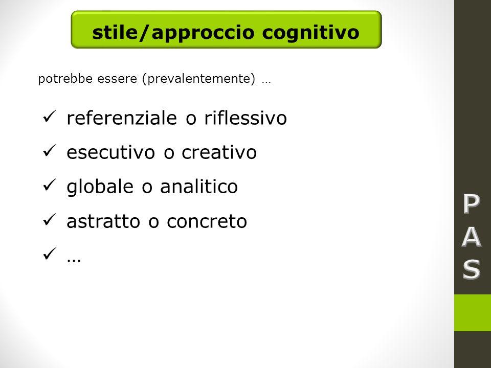 stile/approccio cognitivo