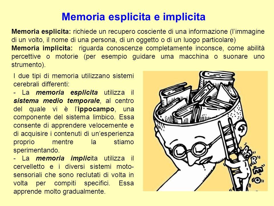 Memoria esplicita e implicita