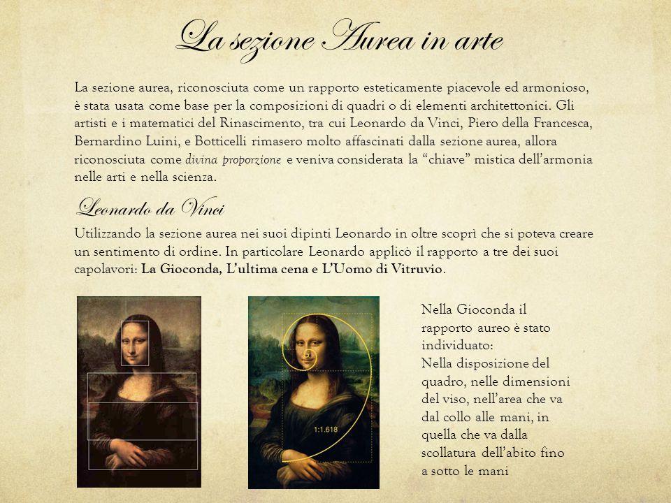 La sezione Aurea in arte