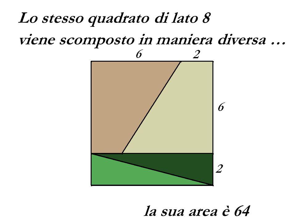 Lo stesso quadrato di lato 8