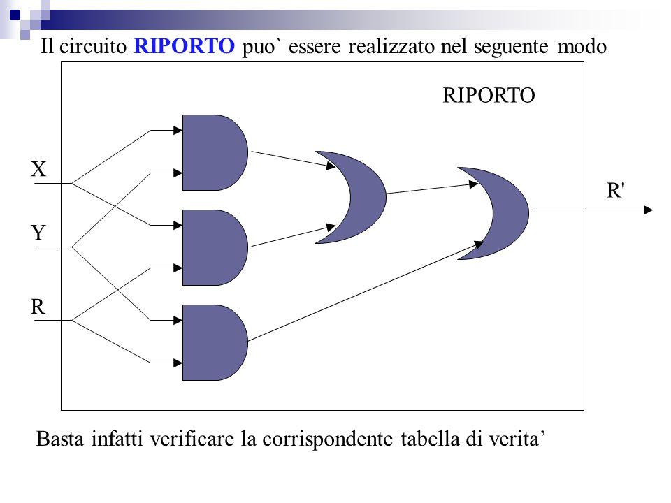 Il circuito RIPORTO puo` essere realizzato nel seguente modo