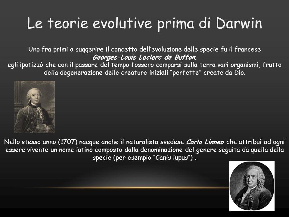 Le teorie evolutive prima di Darwin