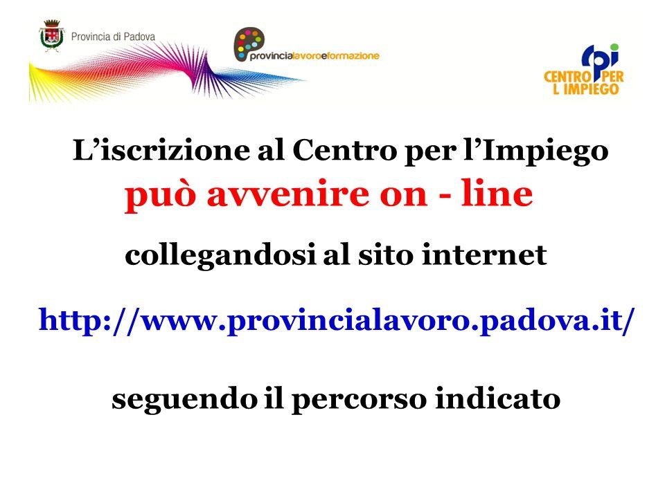 collegandosi al sito internet seguendo il percorso indicato