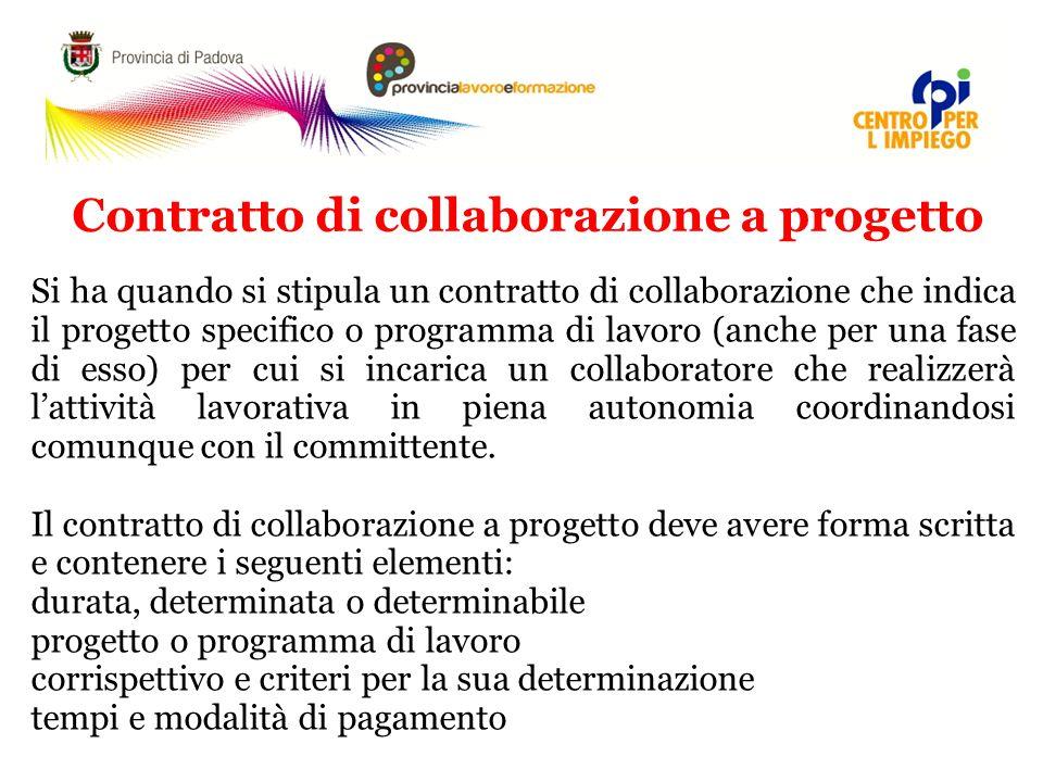 Contratto di collaborazione a progetto