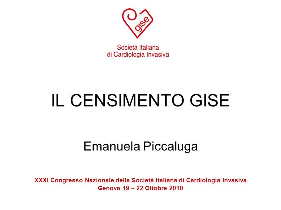 IL CENSIMENTO GISE Emanuela Piccaluga