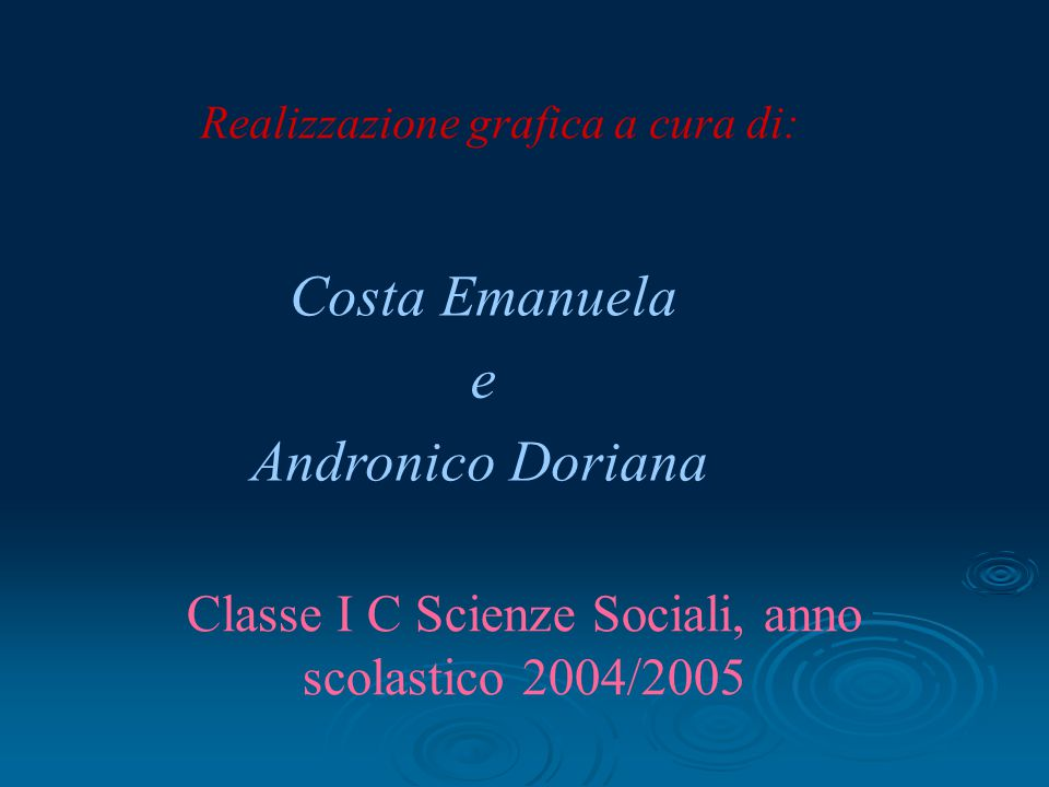 Costa Emanuela e Andronico Doriana