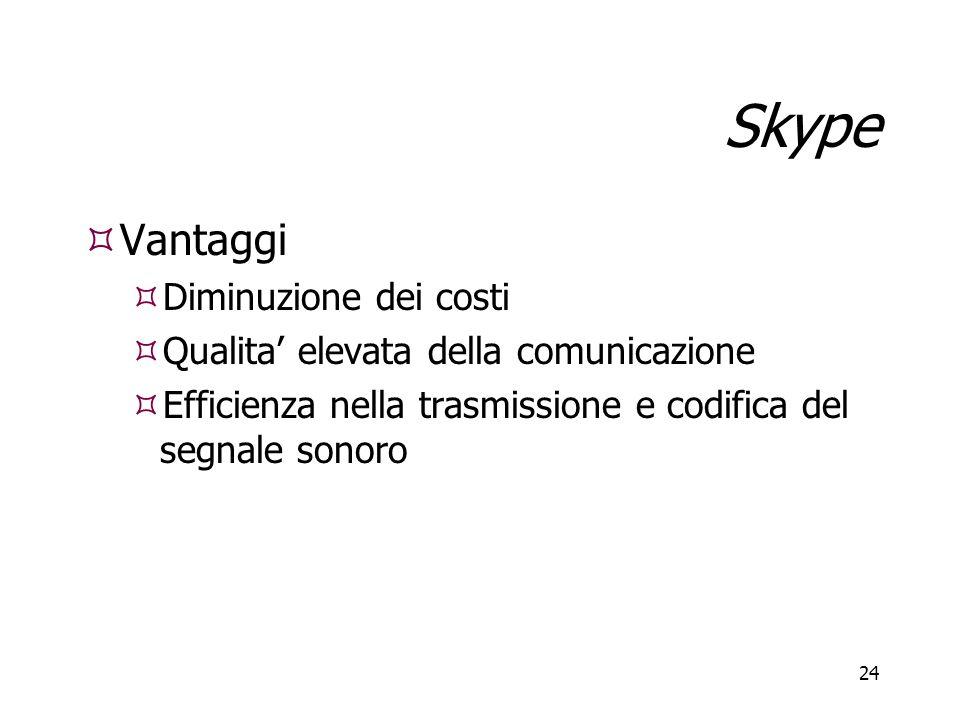 Skype Vantaggi Diminuzione dei costi