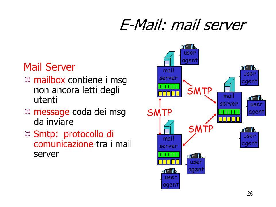 E-Mail: mail server Mail Server