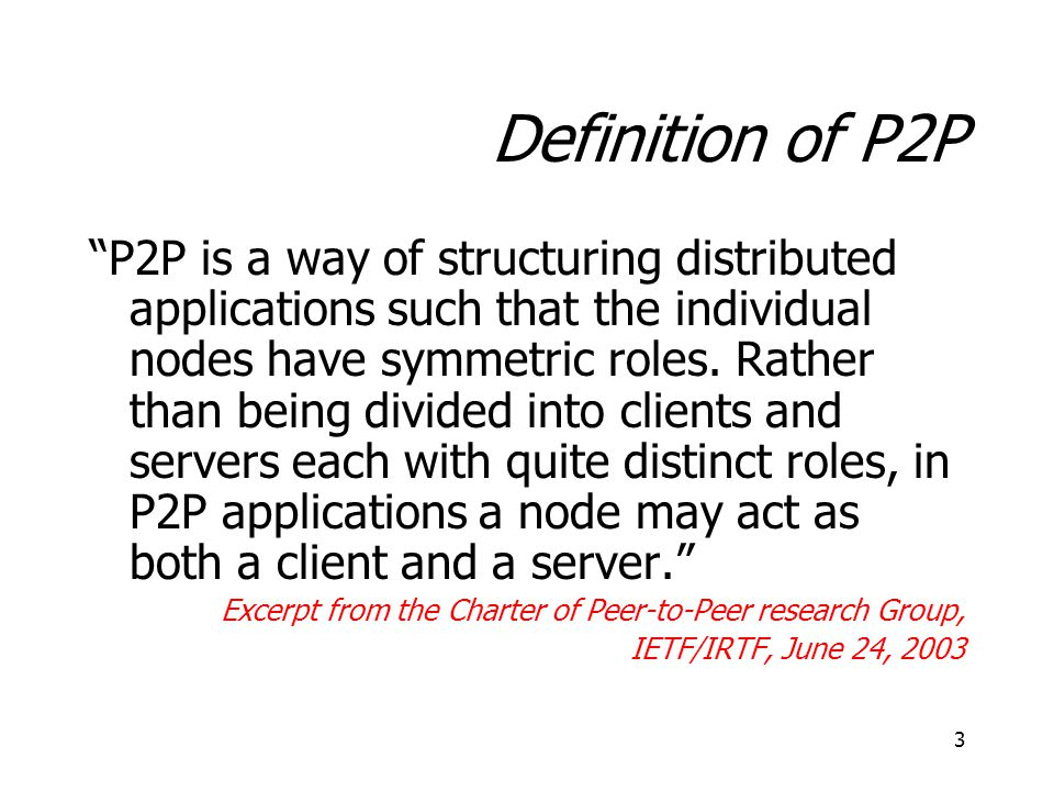 Definition of P2P