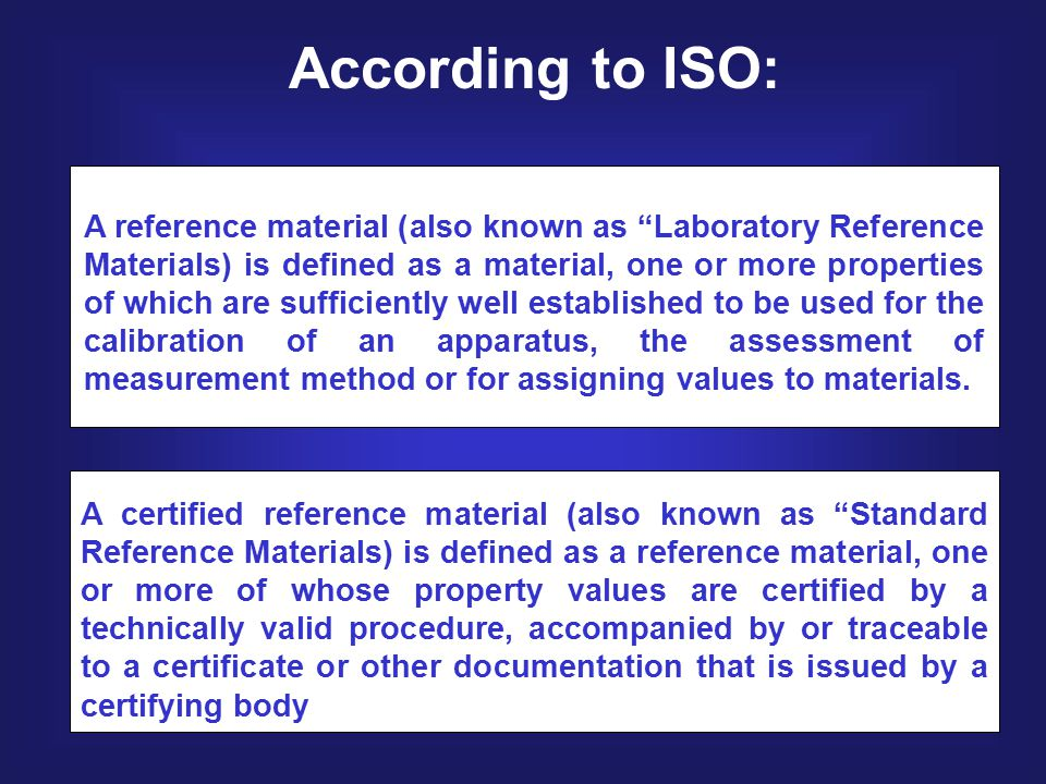 According to ISO: