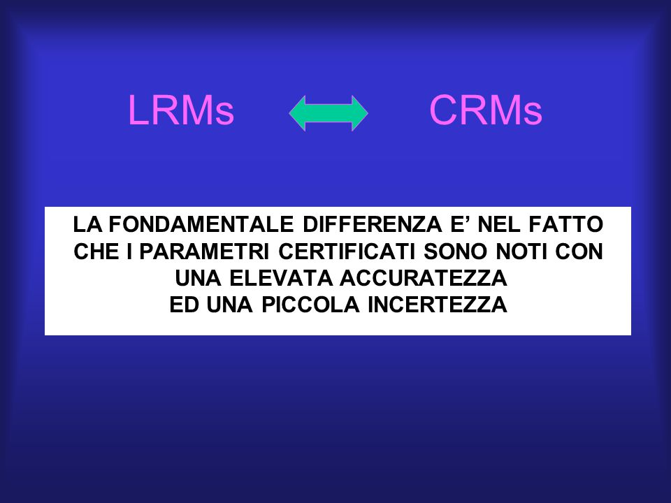 LRMs CRMs LA FONDAMENTALE DIFFERENZA E' NEL FATTO
