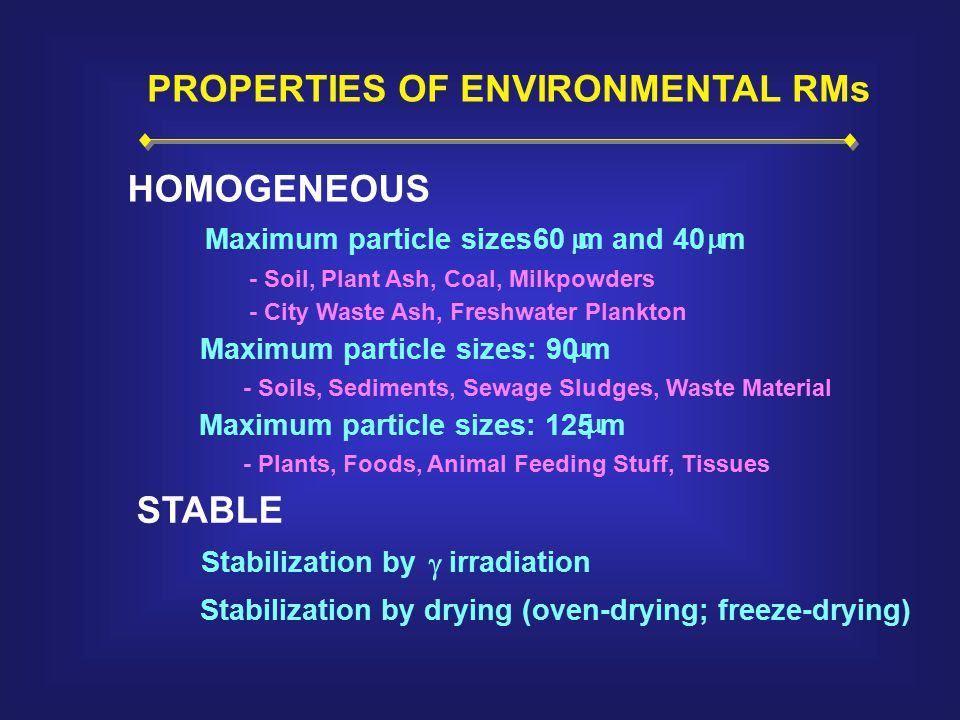 PROPERTIES OF ENVIRONMENTAL RMs HOMOGENEOUS STABLE