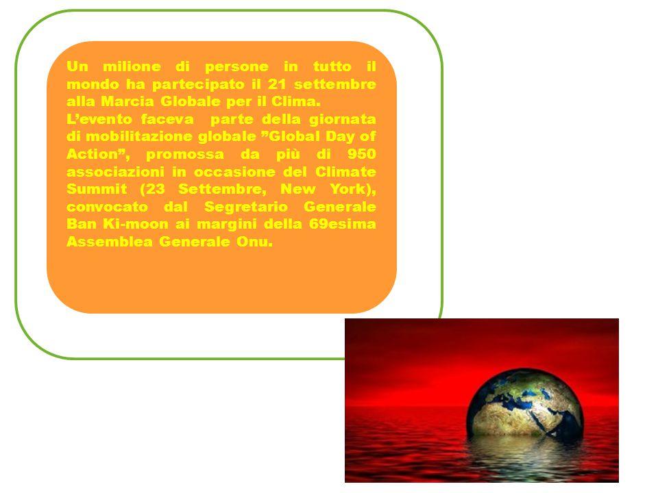 Un milione di persone in tutto il mondo ha partecipato il 21 settembre alla Marcia Globale per il Clima.
