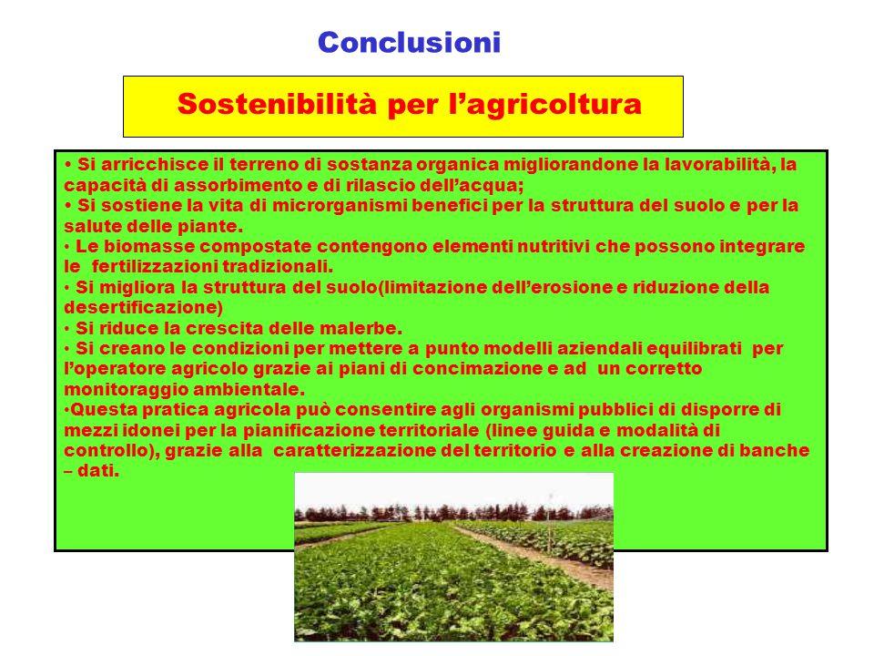 Sostenibilità per l'agricoltura