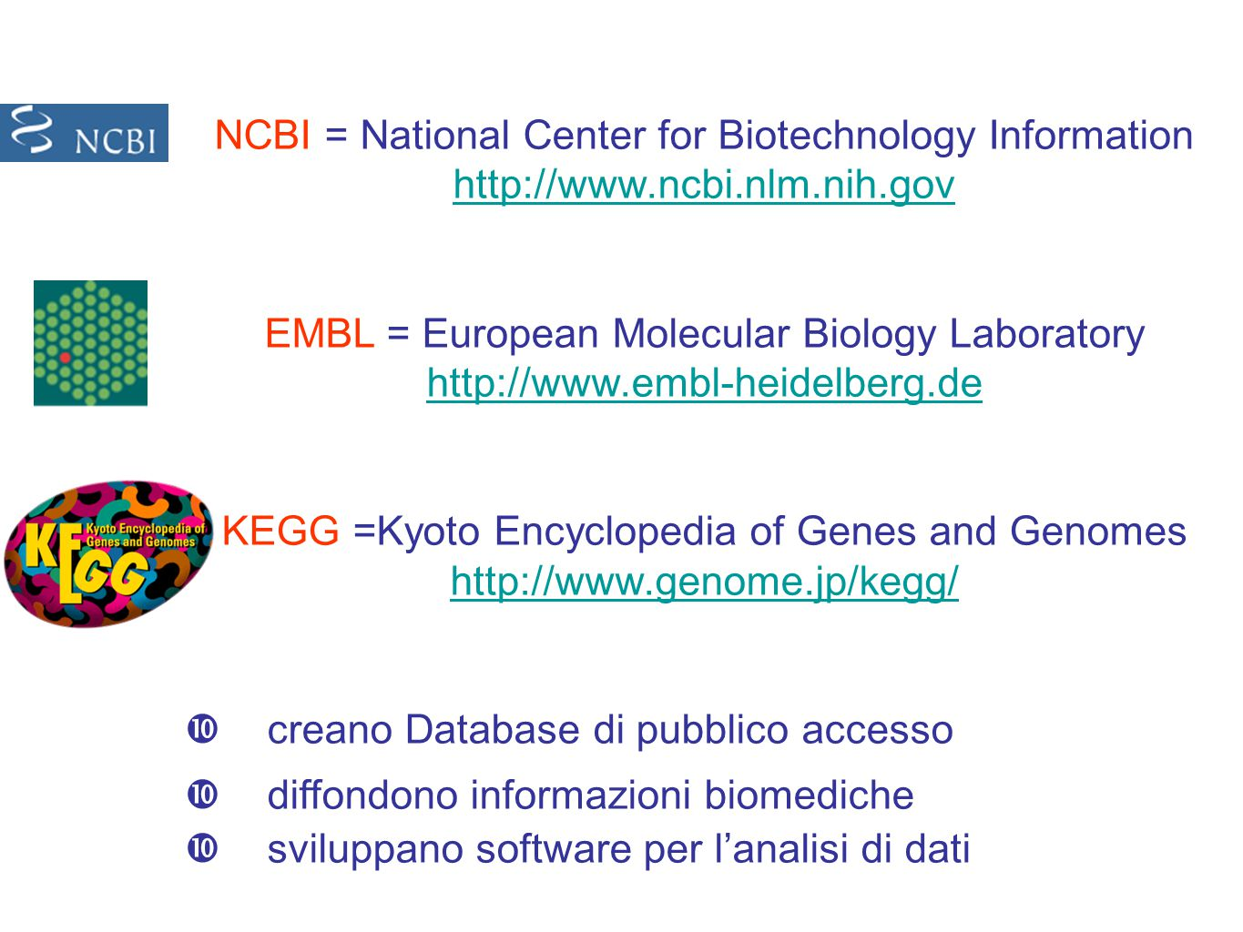 NCBI = National Center for Biotechnology Information