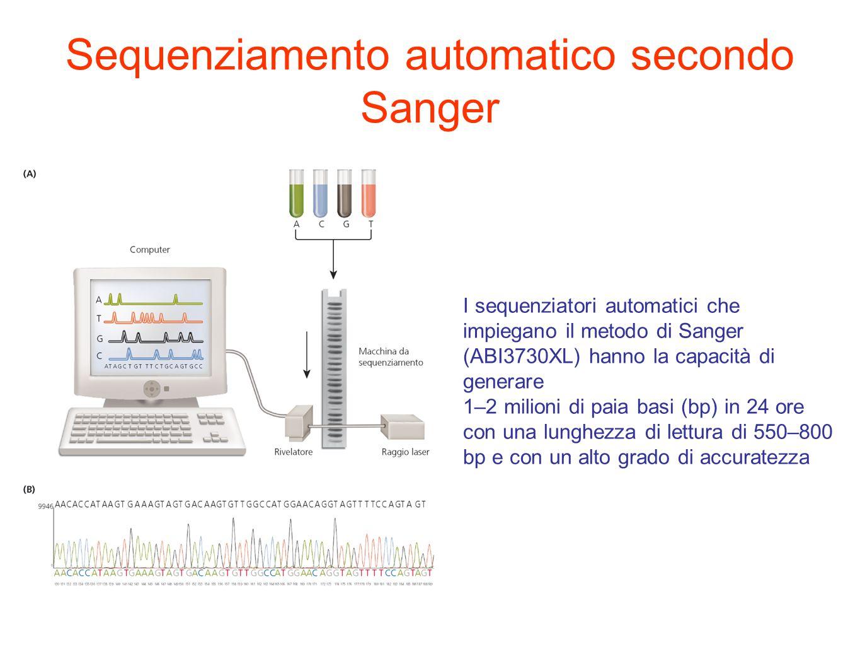 Sequenziamento automatico secondo Sanger