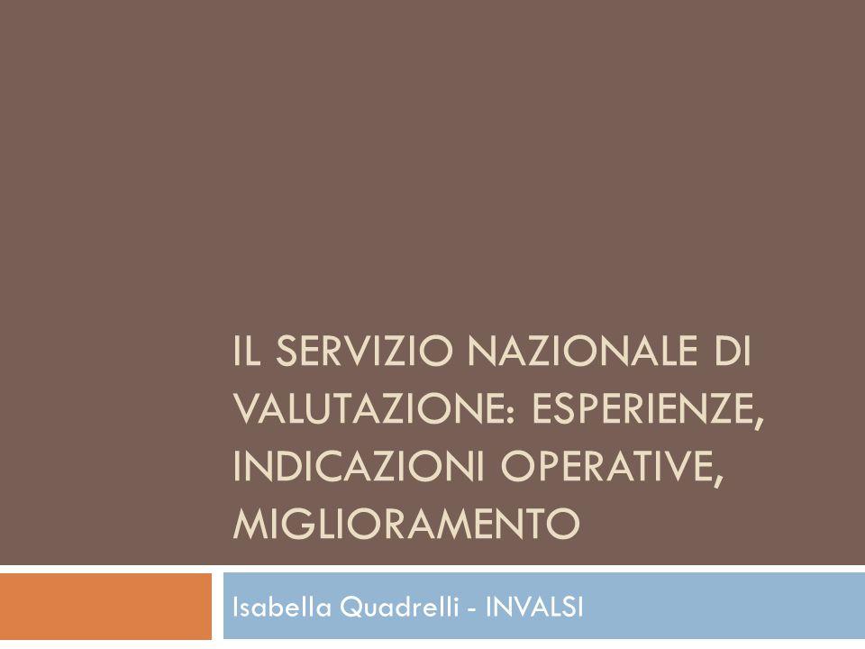 Isabella Quadrelli - INVALSI