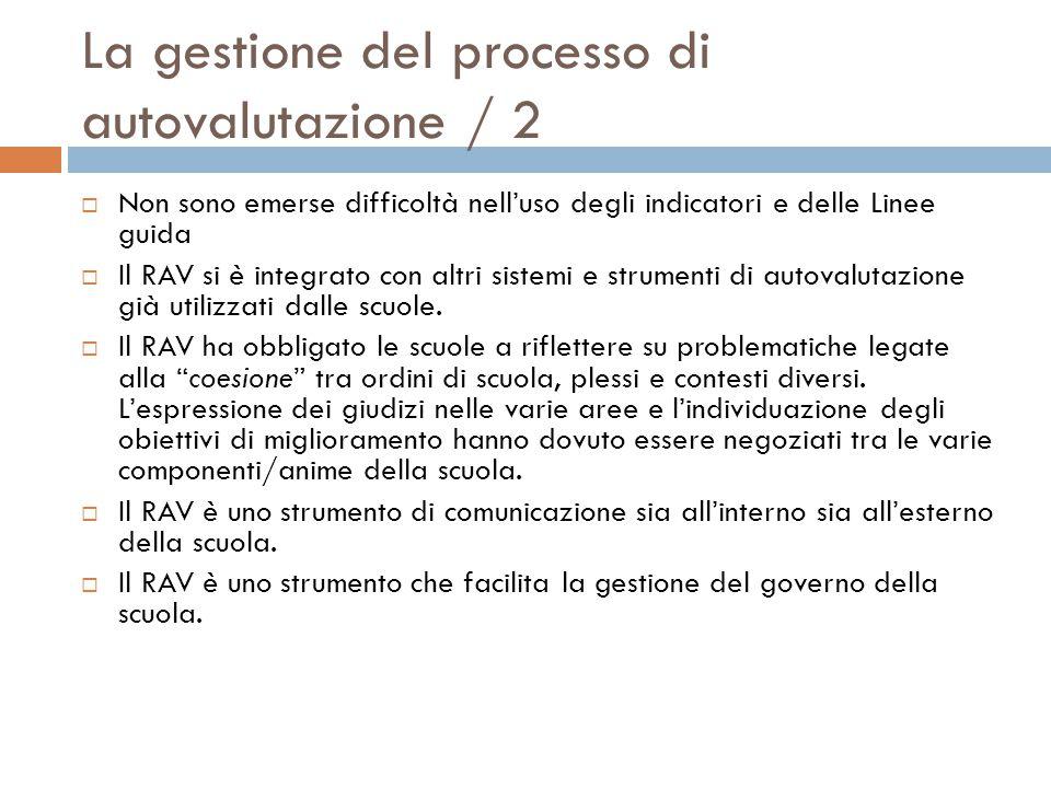 La gestione del processo di autovalutazione / 2