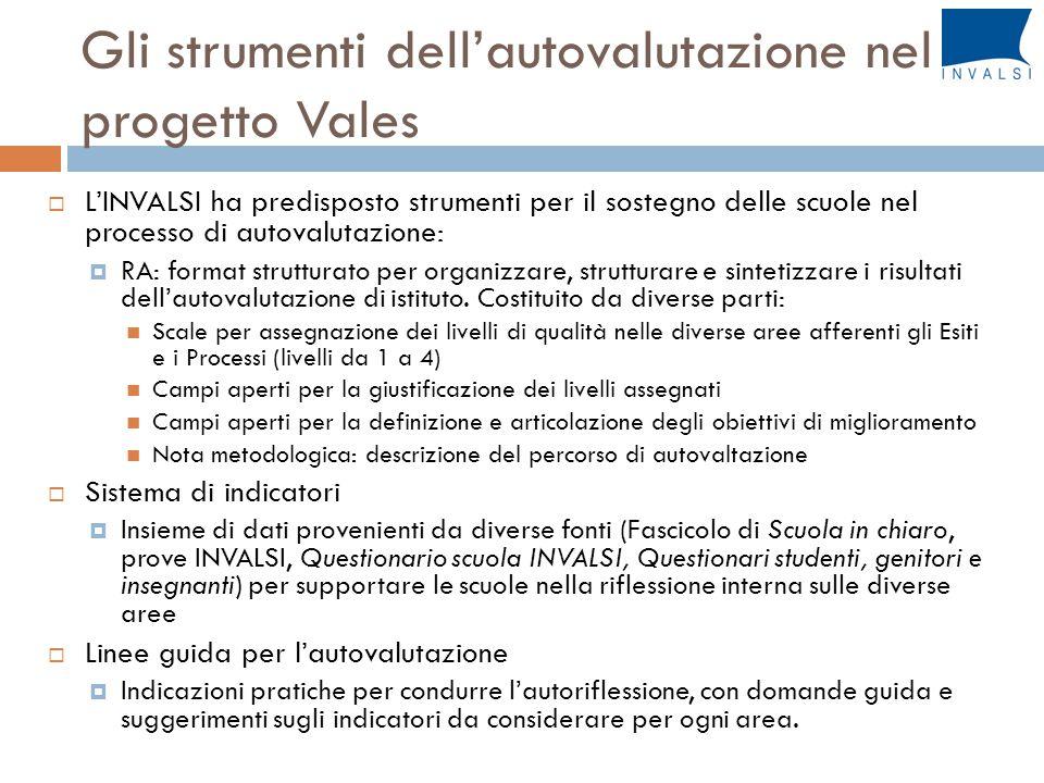 Gli strumenti dell'autovalutazione nel progetto Vales