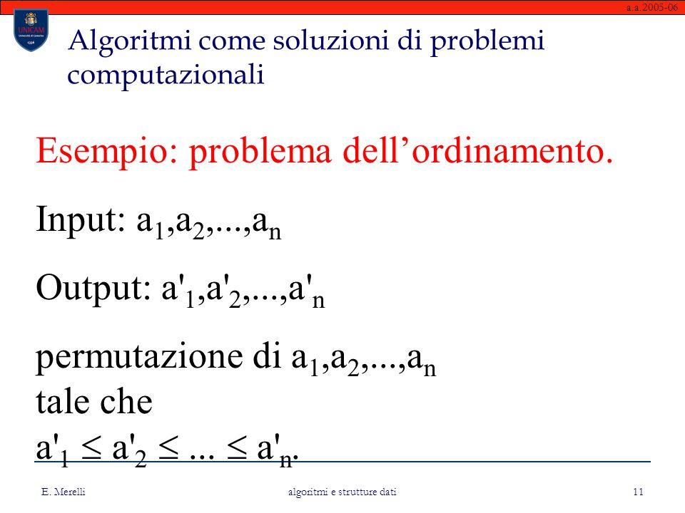Algoritmi come soluzioni di problemi computazionali