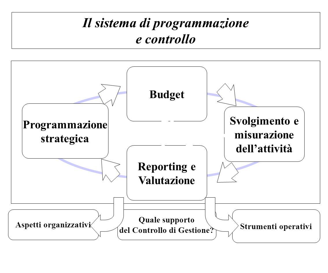 Il sistema di programmazione e controllo