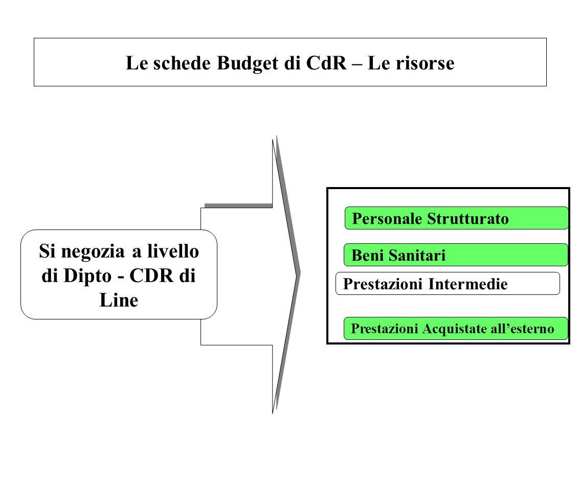 Le schede Budget di CdR – Le risorse
