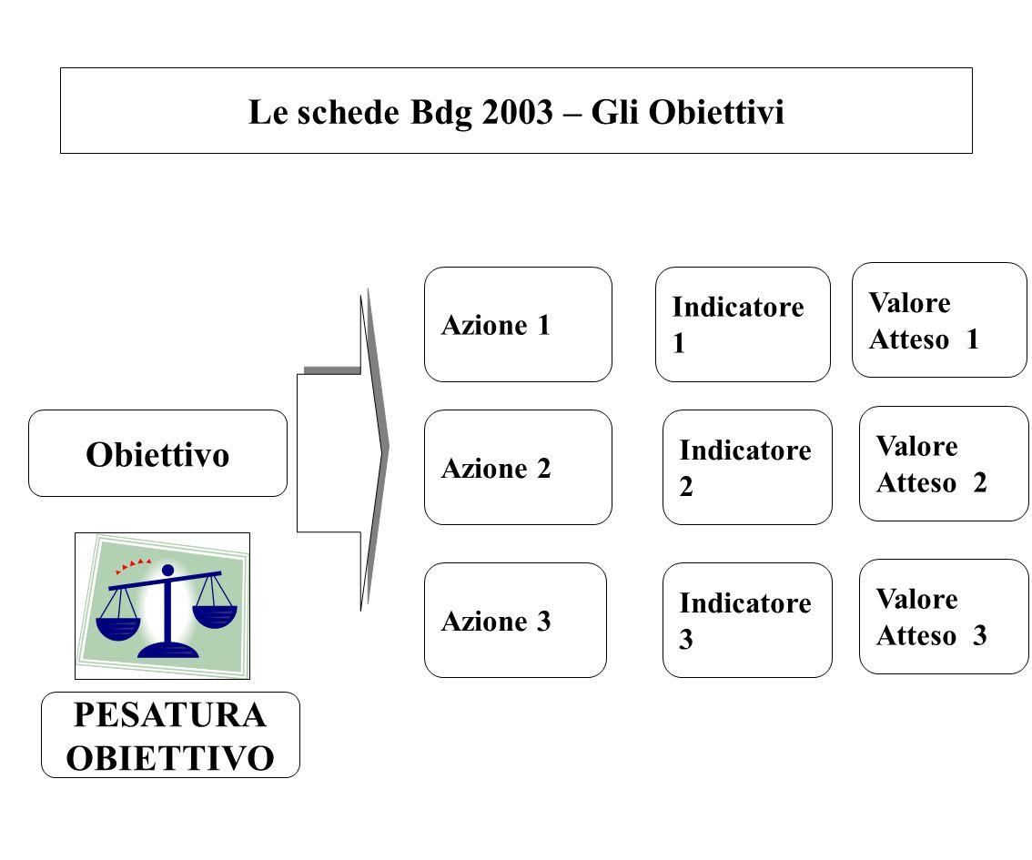 Le schede Bdg 2003 – Gli Obiettivi