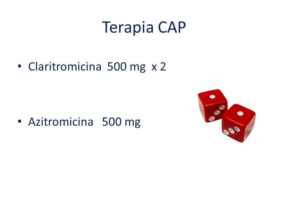 Terapia CAP Claritromicina 500 mg x 2 Azitromicina 500 mg
