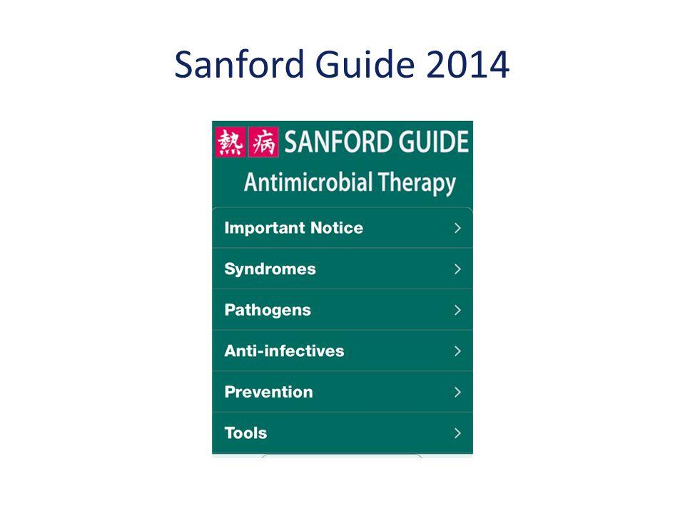 Sanford Guide 2014