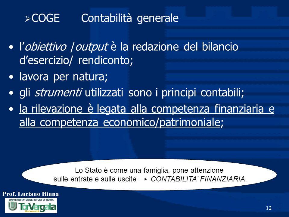 COGE Contabilità generale