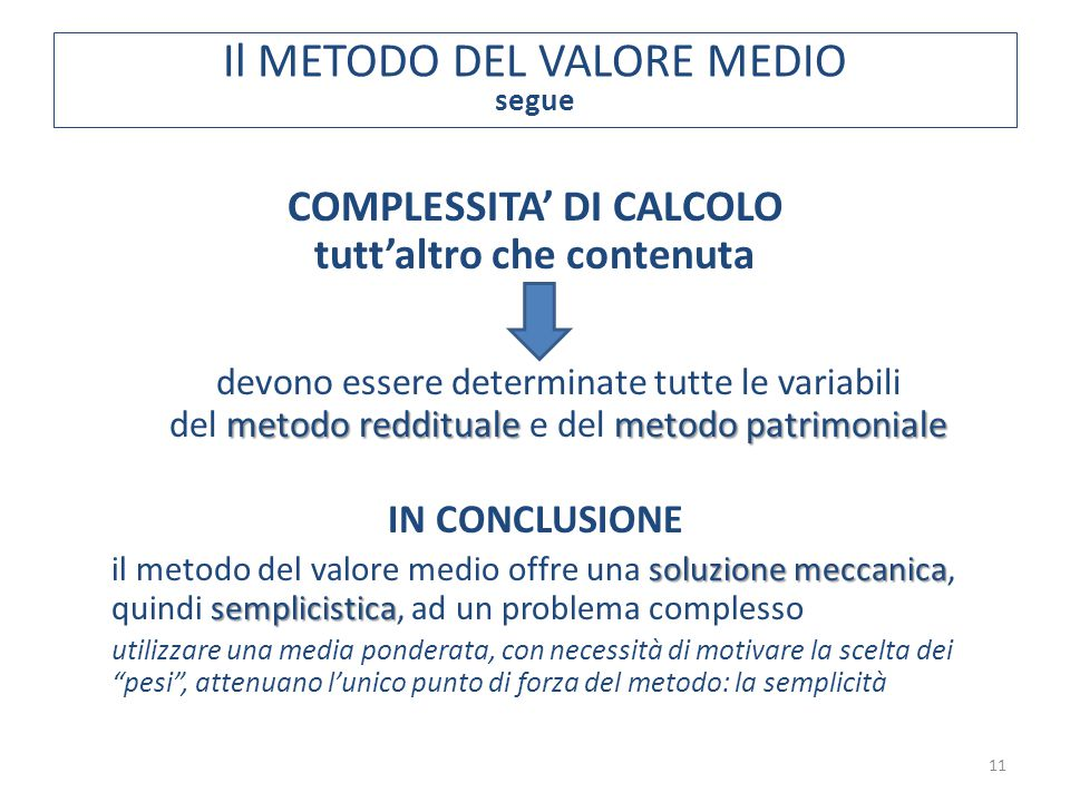 COMPLESSITA' DI CALCOLO tutt'altro che contenuta