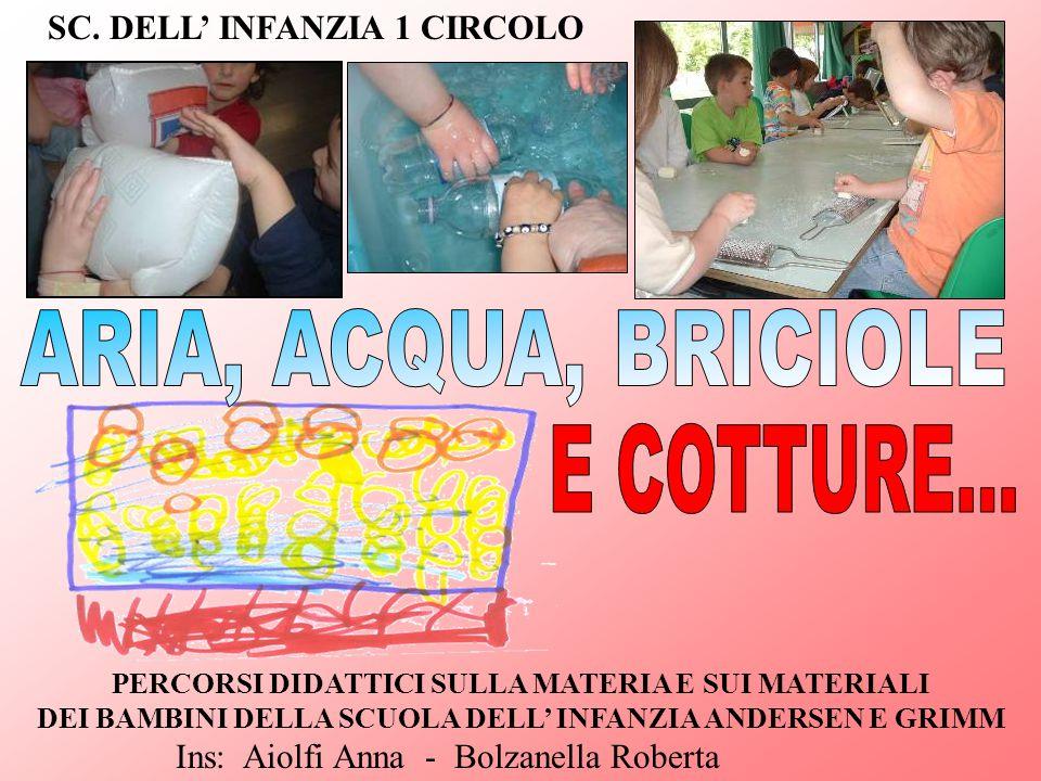 ARIA, ACQUA, BRICIOLE E COTTURE... SC. DELL' INFANZIA 1 CIRCOLO