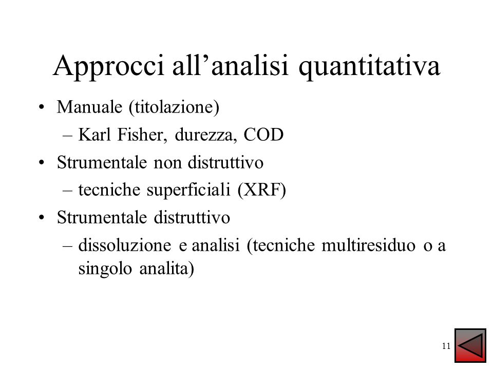 Approcci all'analisi quantitativa