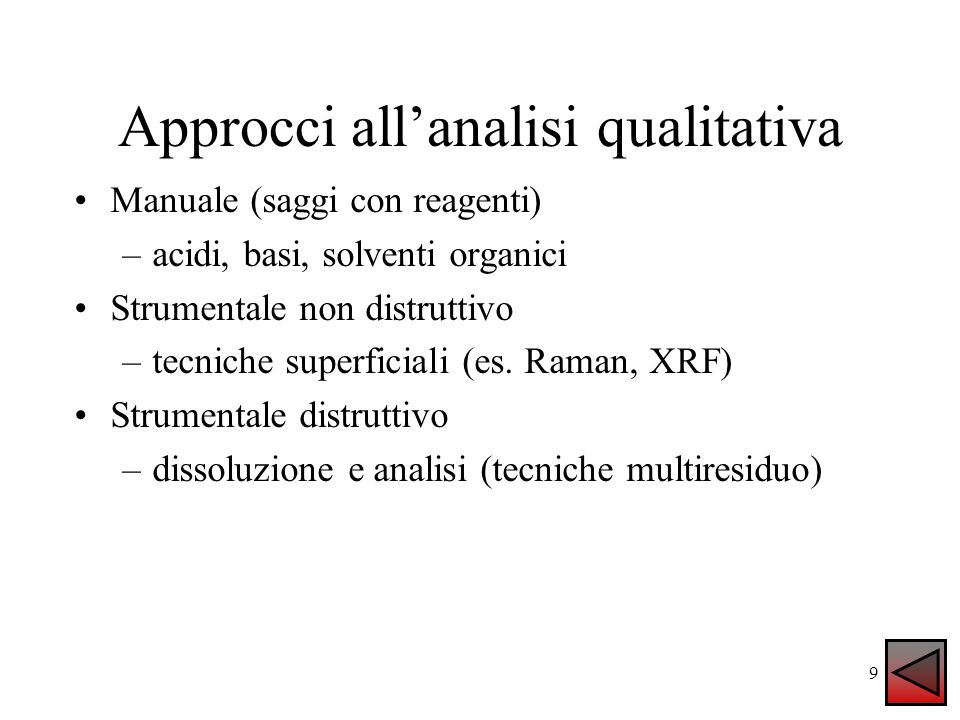Approcci all'analisi qualitativa