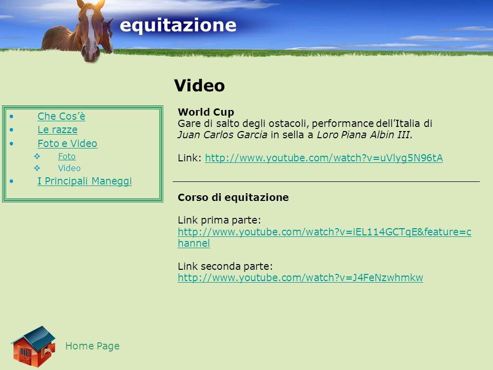 equitazione Video World Cup Che Cos'è