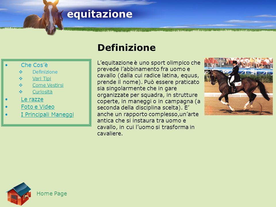 equitazione Definizione