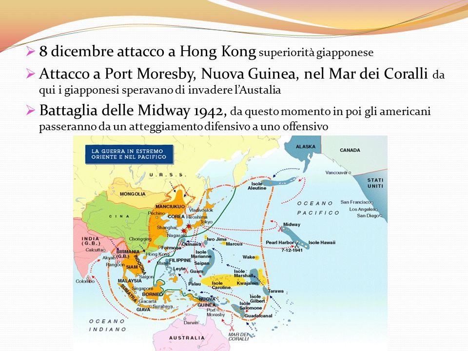 8 dicembre attacco a Hong Kong superiorità giapponese