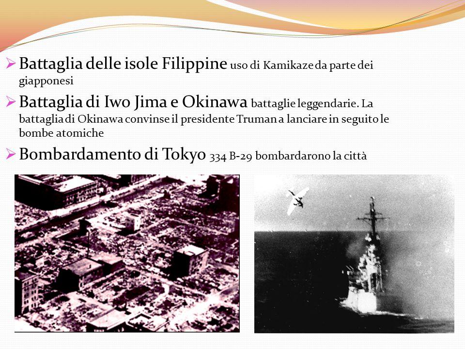 Battaglia delle isole Filippine uso di Kamikaze da parte dei giapponesi