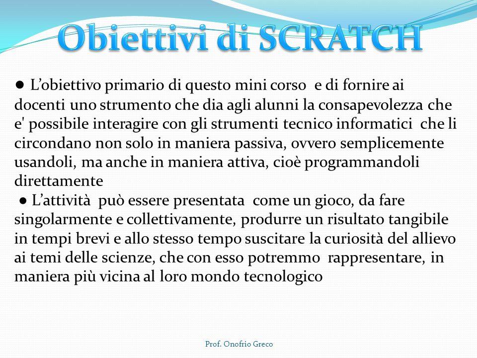 Obiettivi di SCRATCH