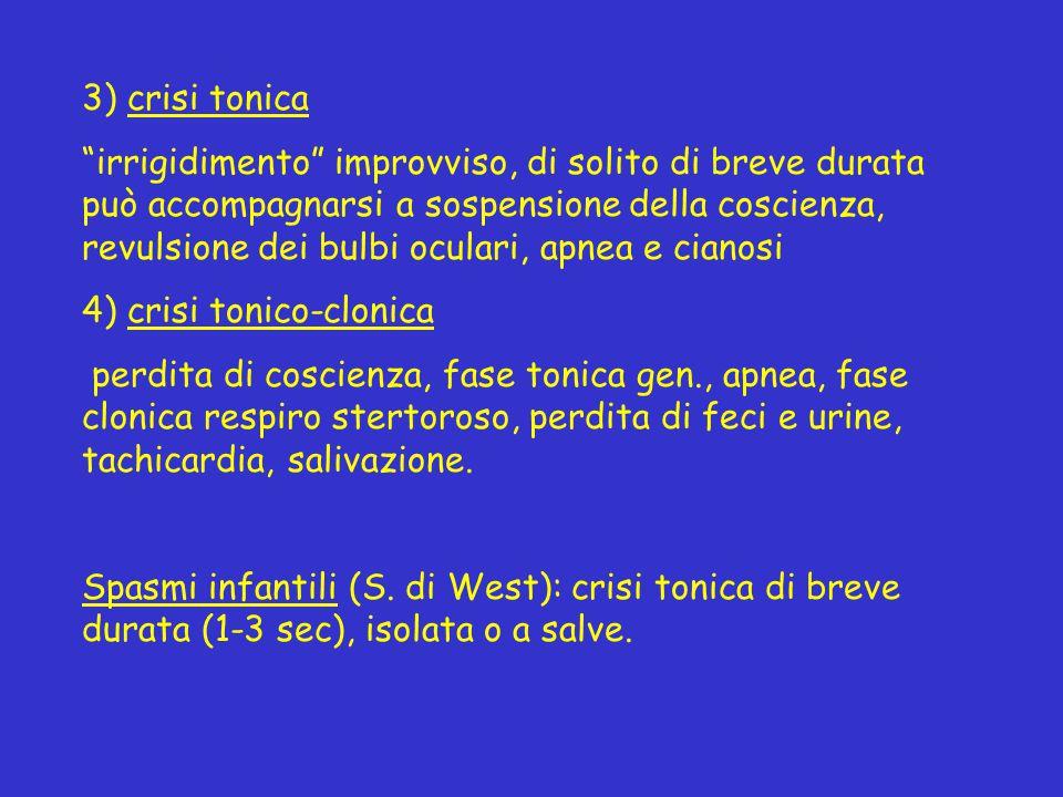 3) crisi tonica