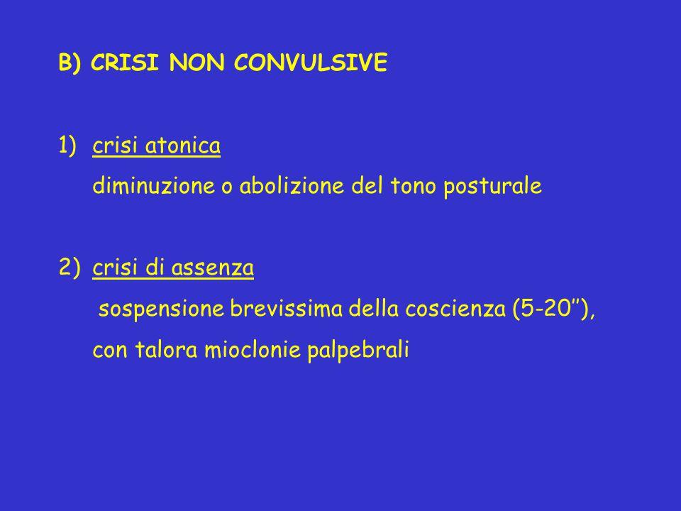 B) CRISI NON CONVULSIVE