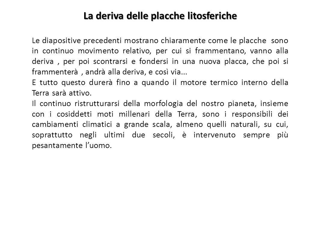 La deriva delle placche litosferiche
