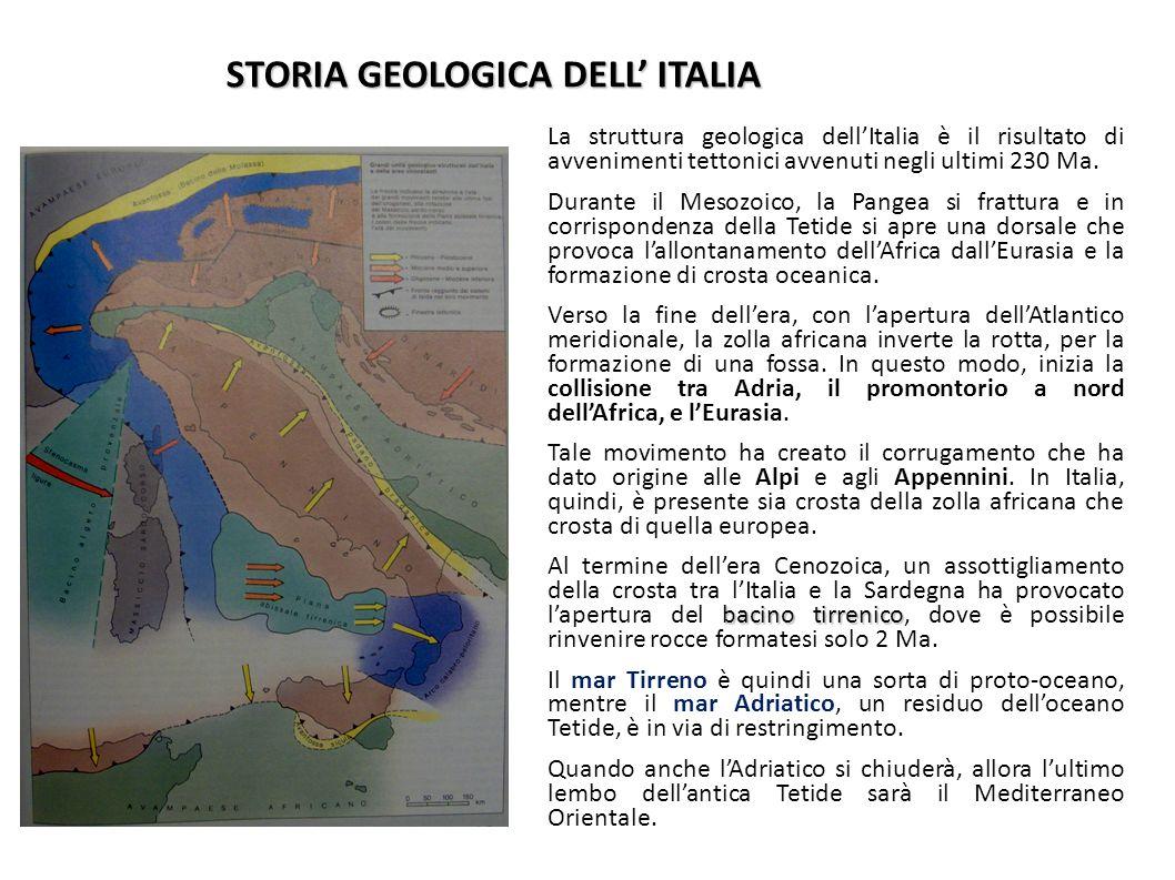 STORIA GEOLOGICA DELL' ITALIA