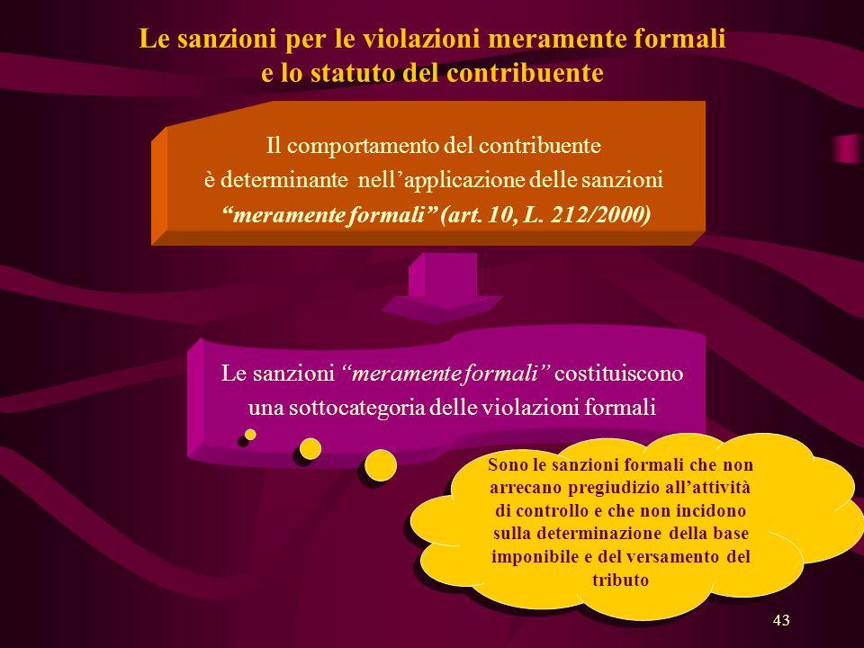 meramente formali (art. 10, L. 212/2000)