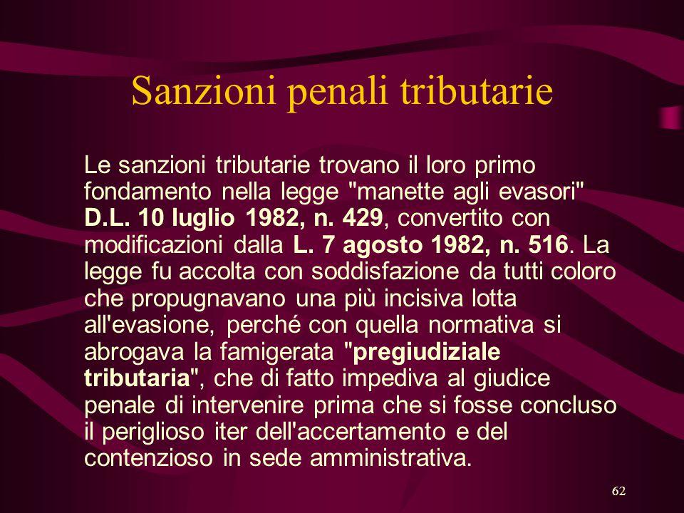 Sanzioni penali tributarie