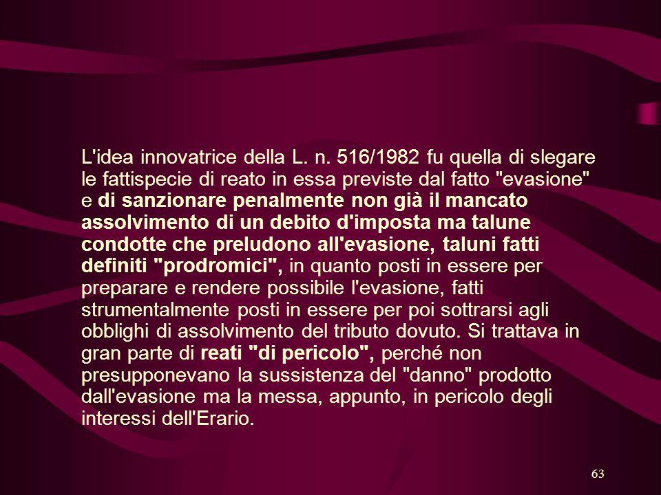 L idea innovatrice della L. n