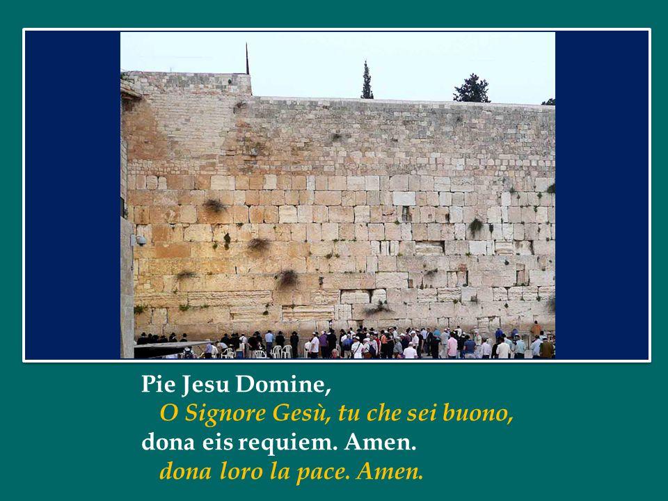 Pie Jesu Domine, O Signore Gesù, tu che sei buono, dona eis requiem