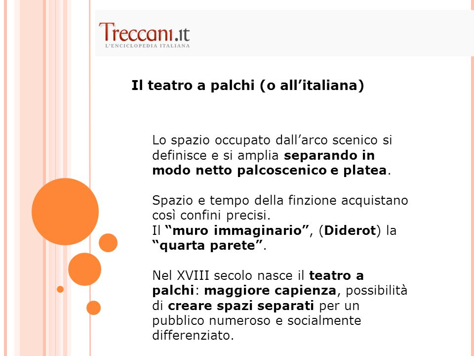 Il teatro a palchi (o all'italiana)