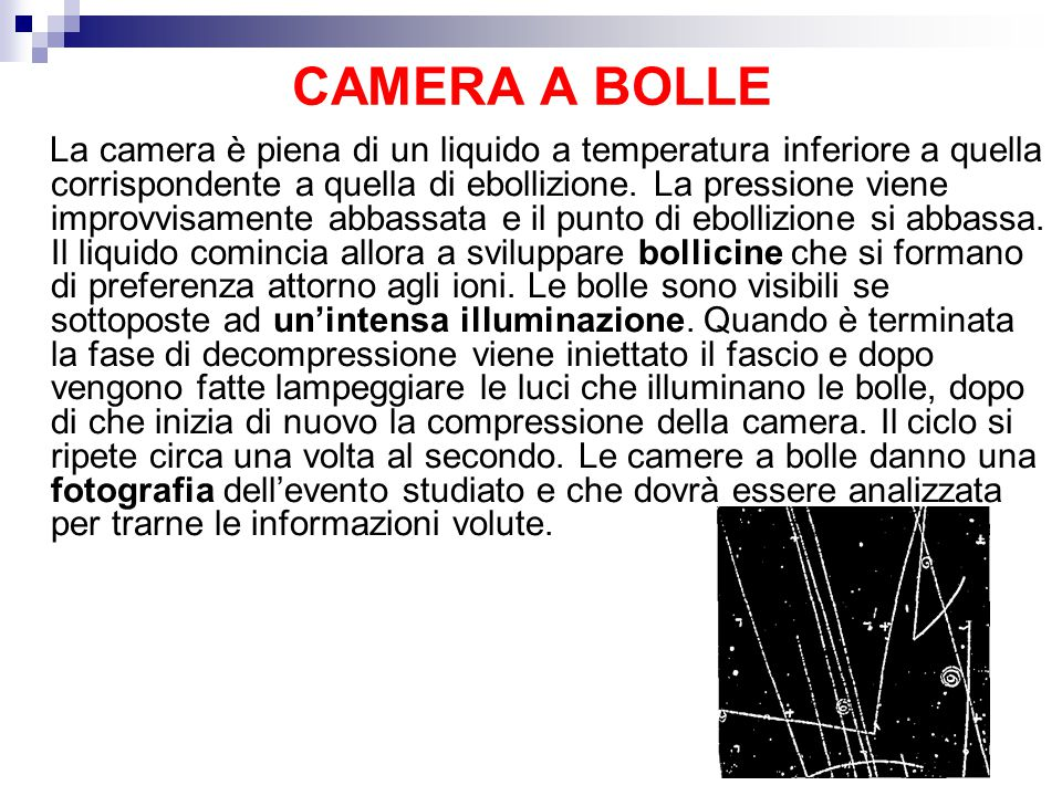 CAMERA A BOLLE